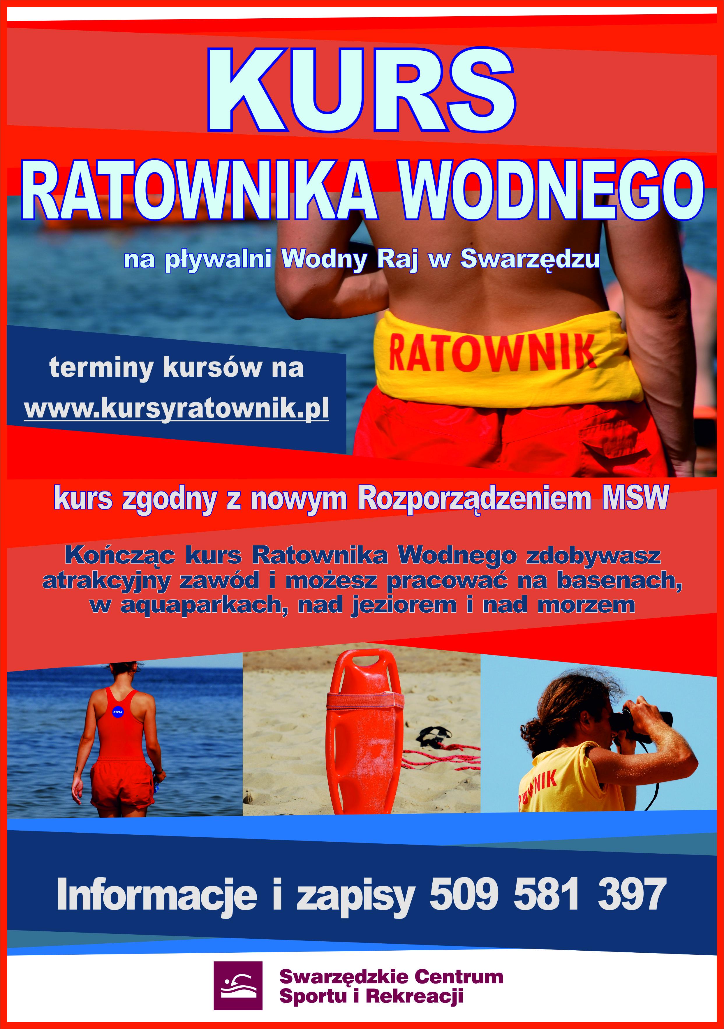 Kurs Ratownika Wodnego - Basen Wodny Raj w Swarzędzu