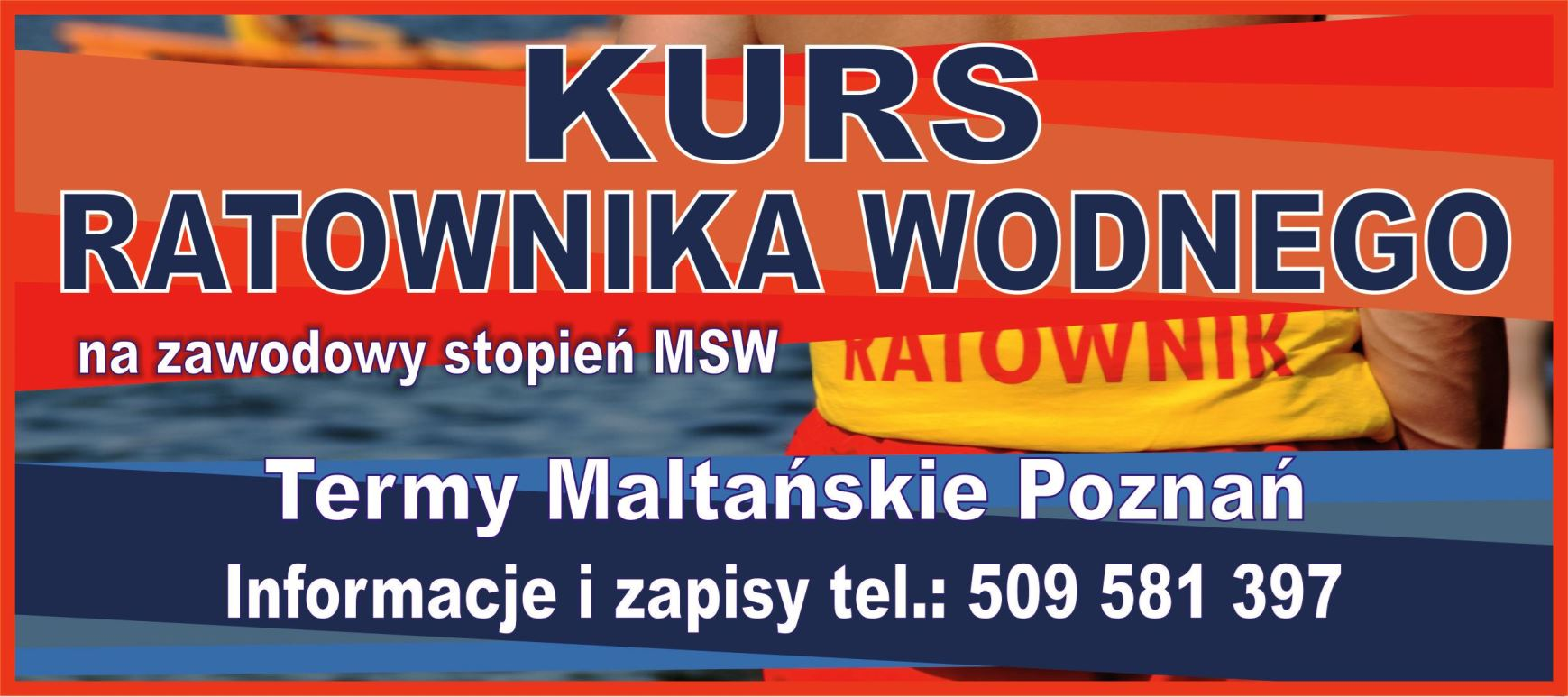 Kurs RATOWNIK WODNY Termy Maltańskie Poznań